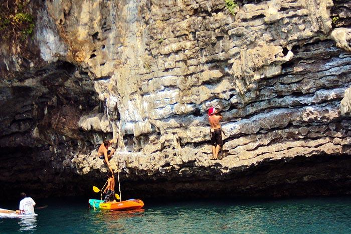 Thaimaa krabi deep water solo