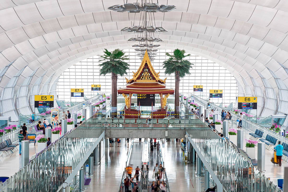 bangkok Suvarnabhumin lentokenttä terminaali