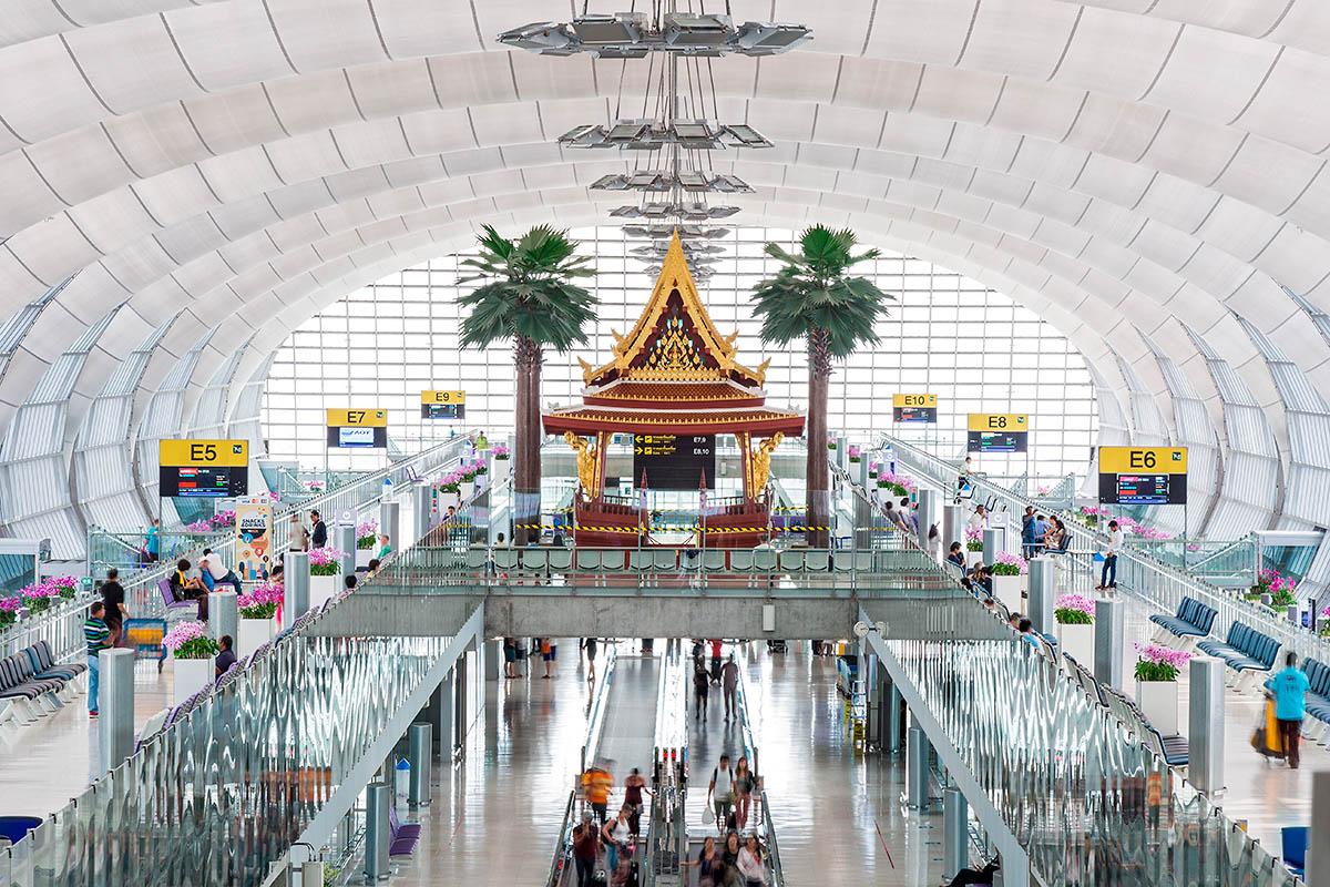 bangkokin lentokentän pohjapiirros