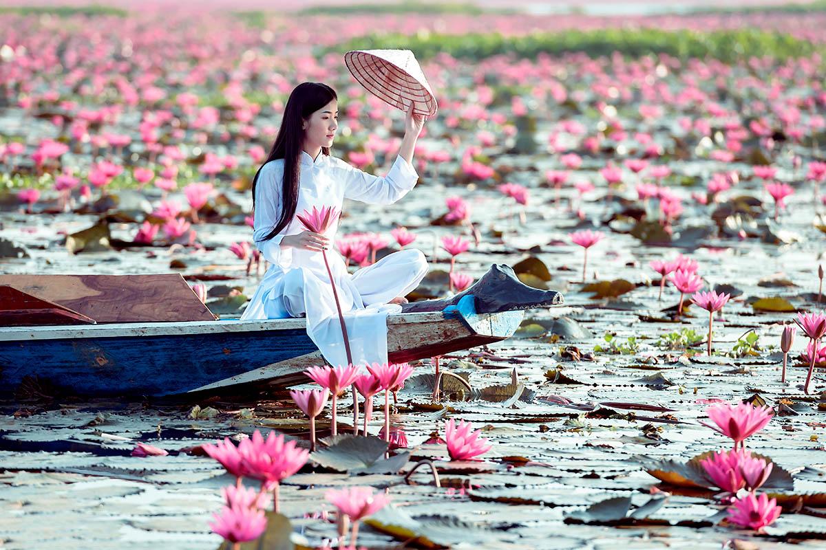 Udon Thani lootus järvi