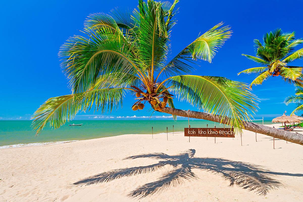 thaimaa kho khao hiekkaranta palmu
