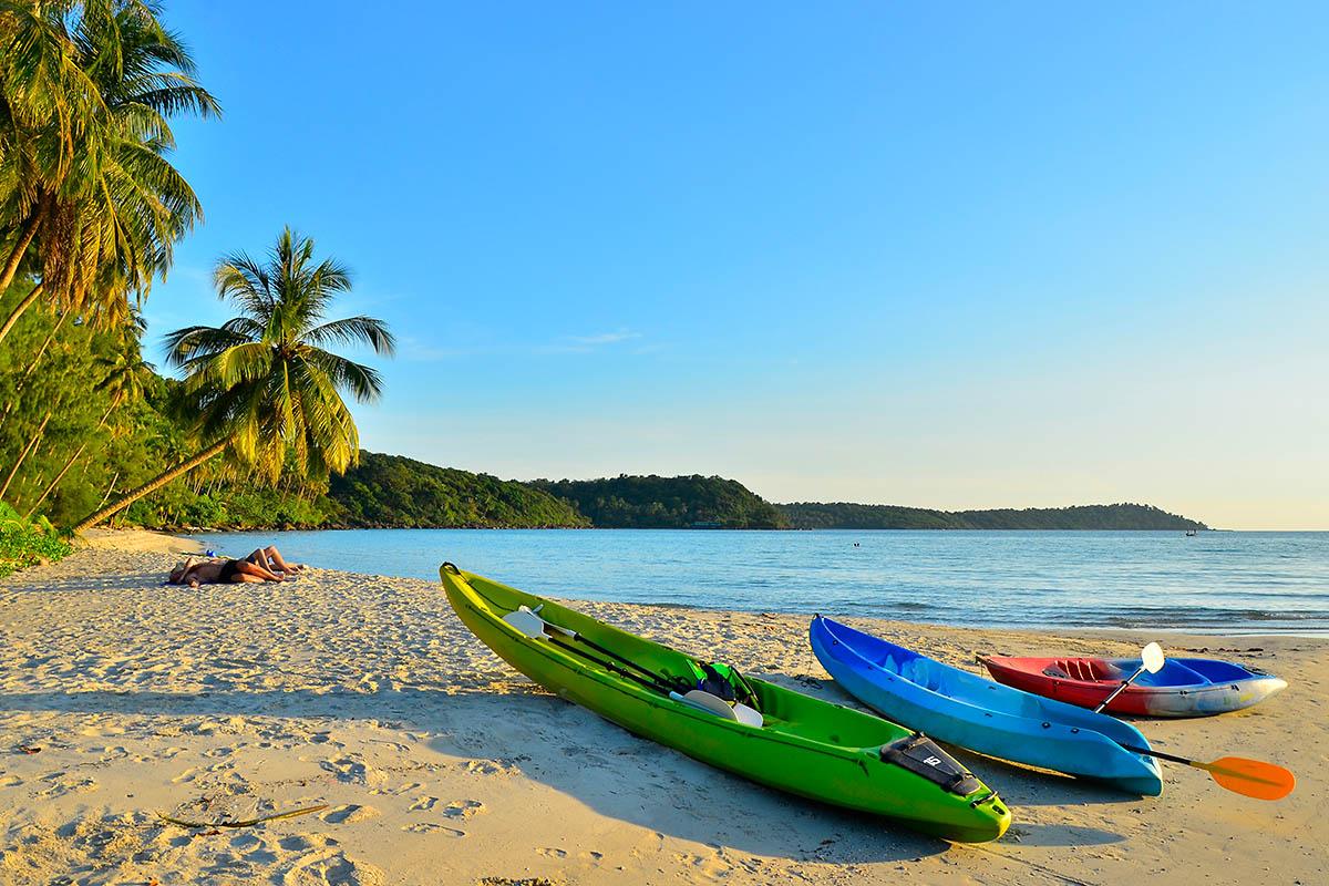 thaimaa koh kood ranta kajakki melonta