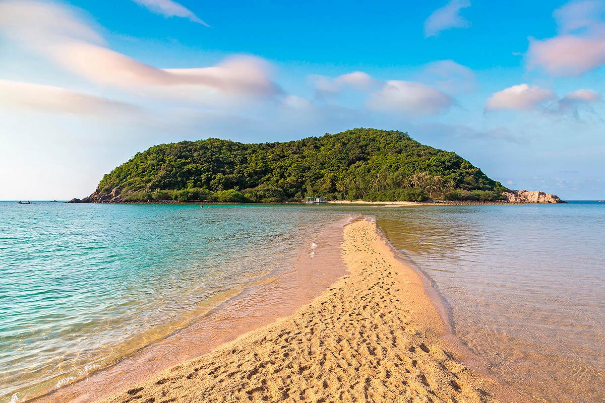 thaimaa phangan mae beach ranta