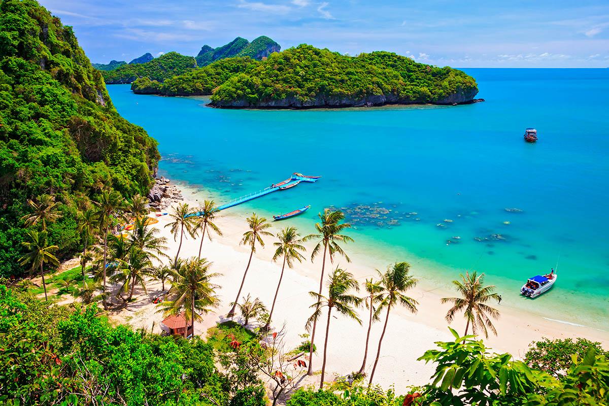 thaimaa Ang Thong kansallispuisto palmuranta