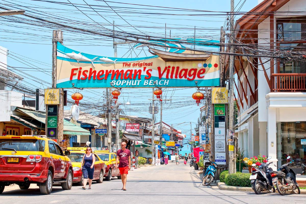 thaimaa samui fisherman village