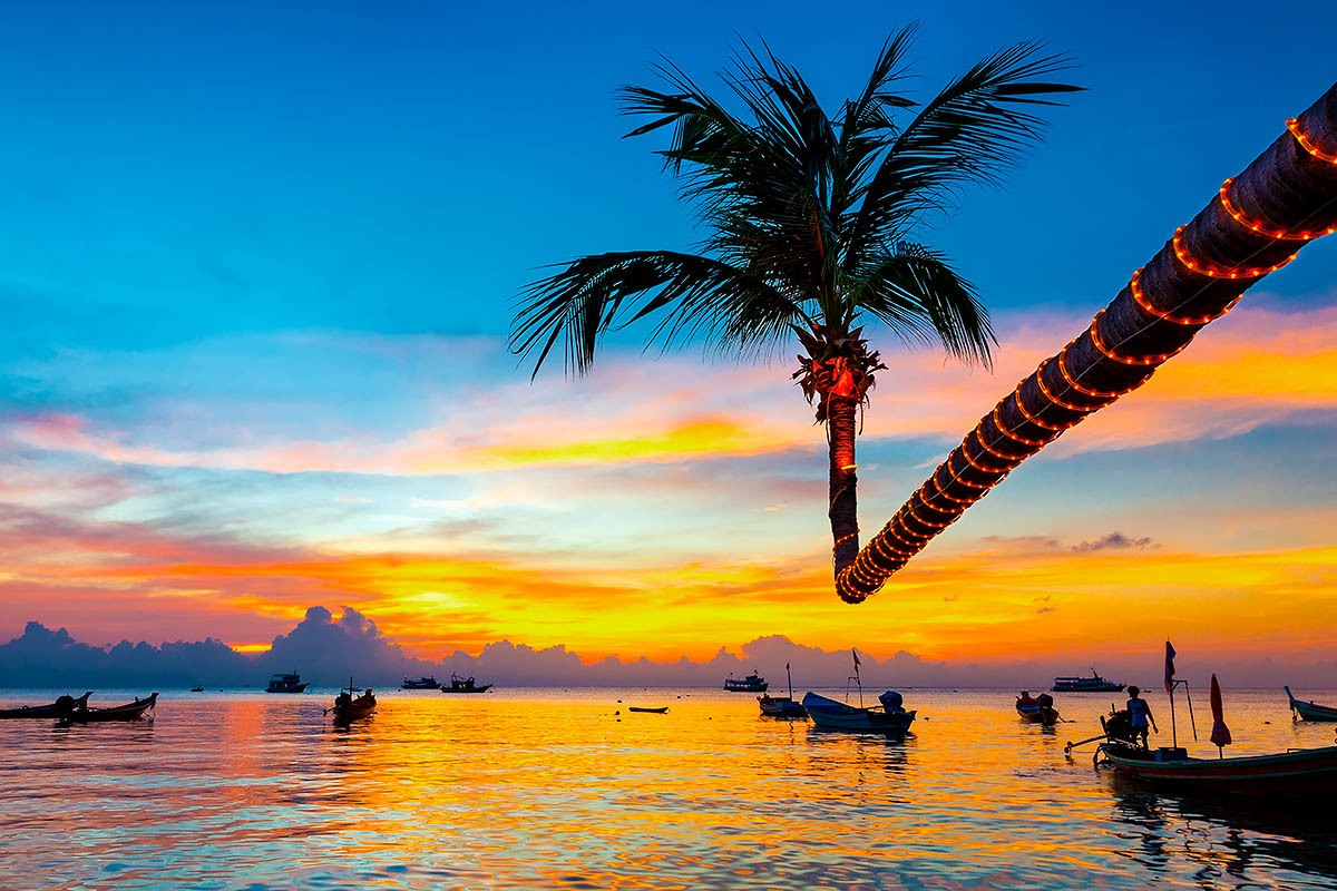 thaimaa koh tao auringonlasku