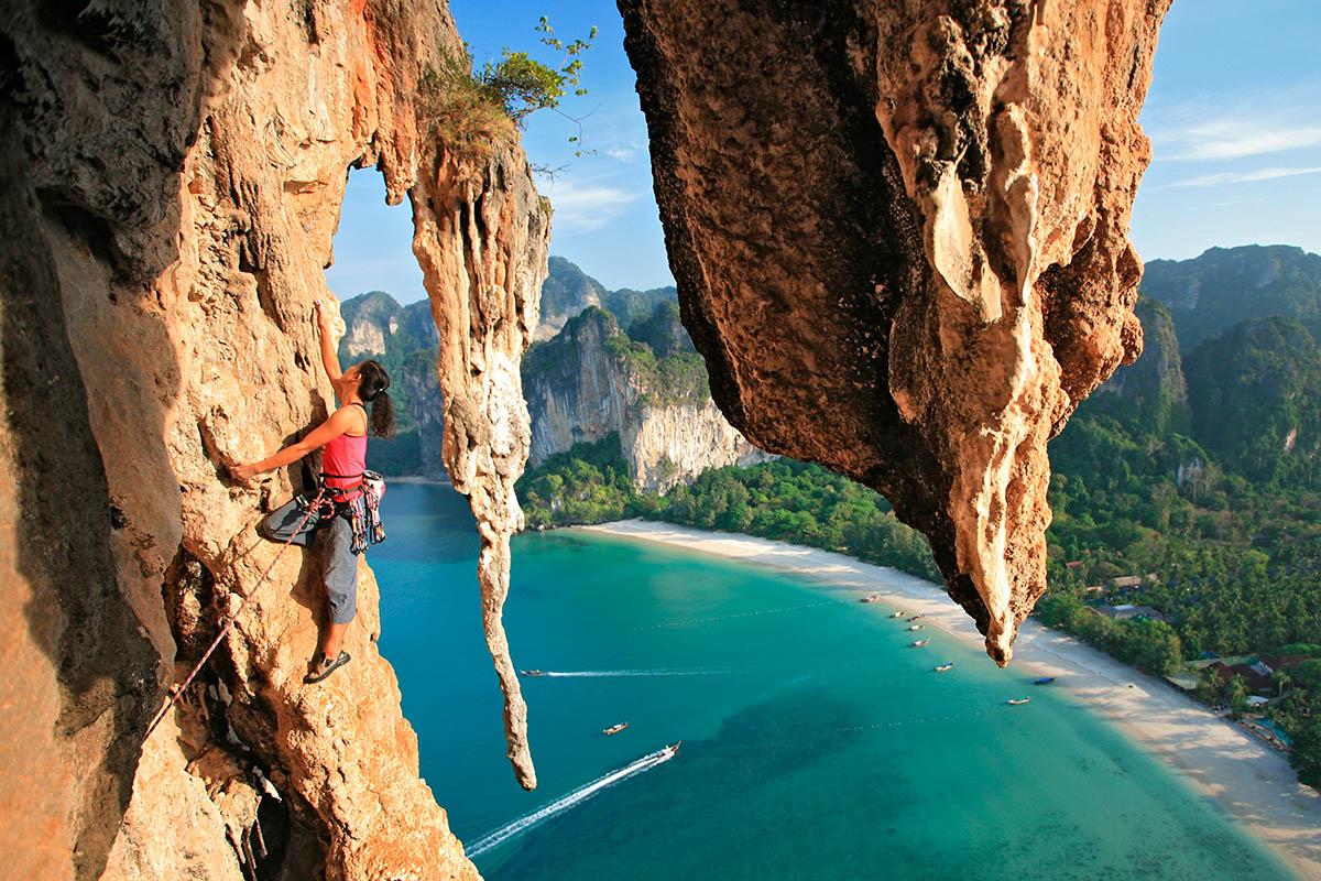 thaimaa krabi railay kalliokiipeily