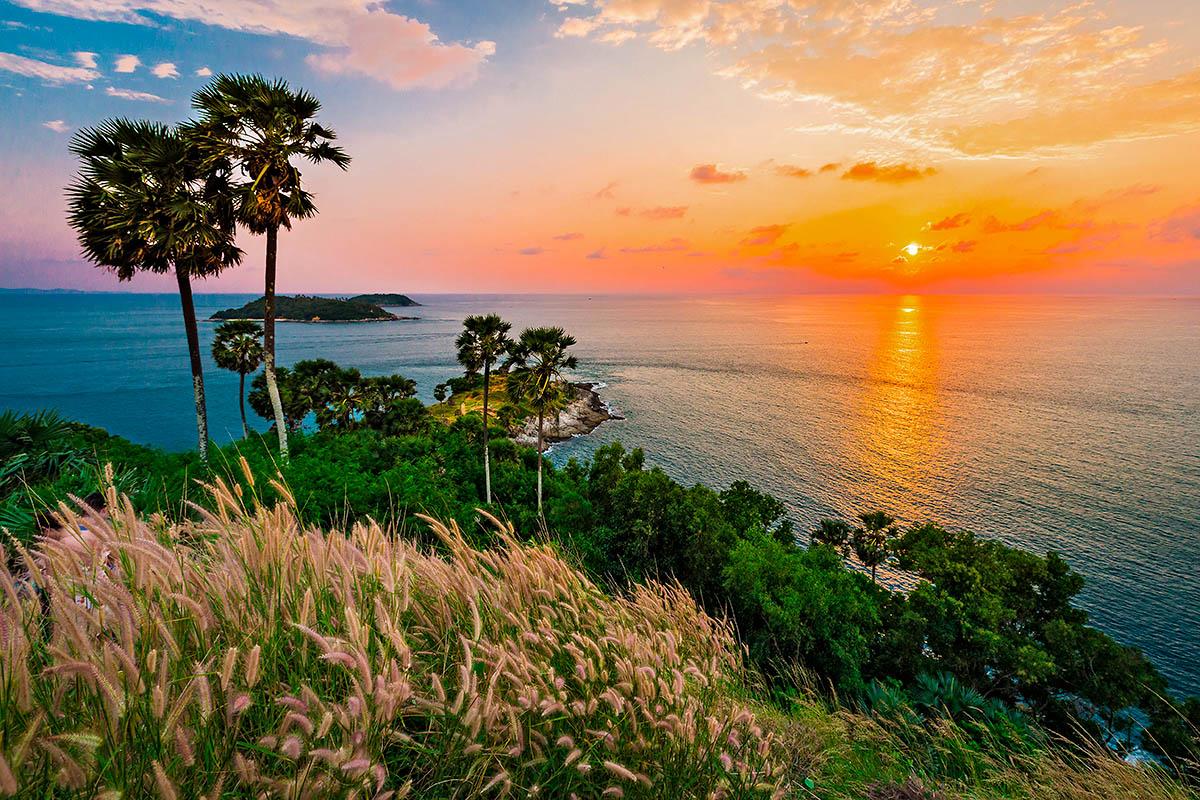 thaimaa phuket Promthep auringonlasku