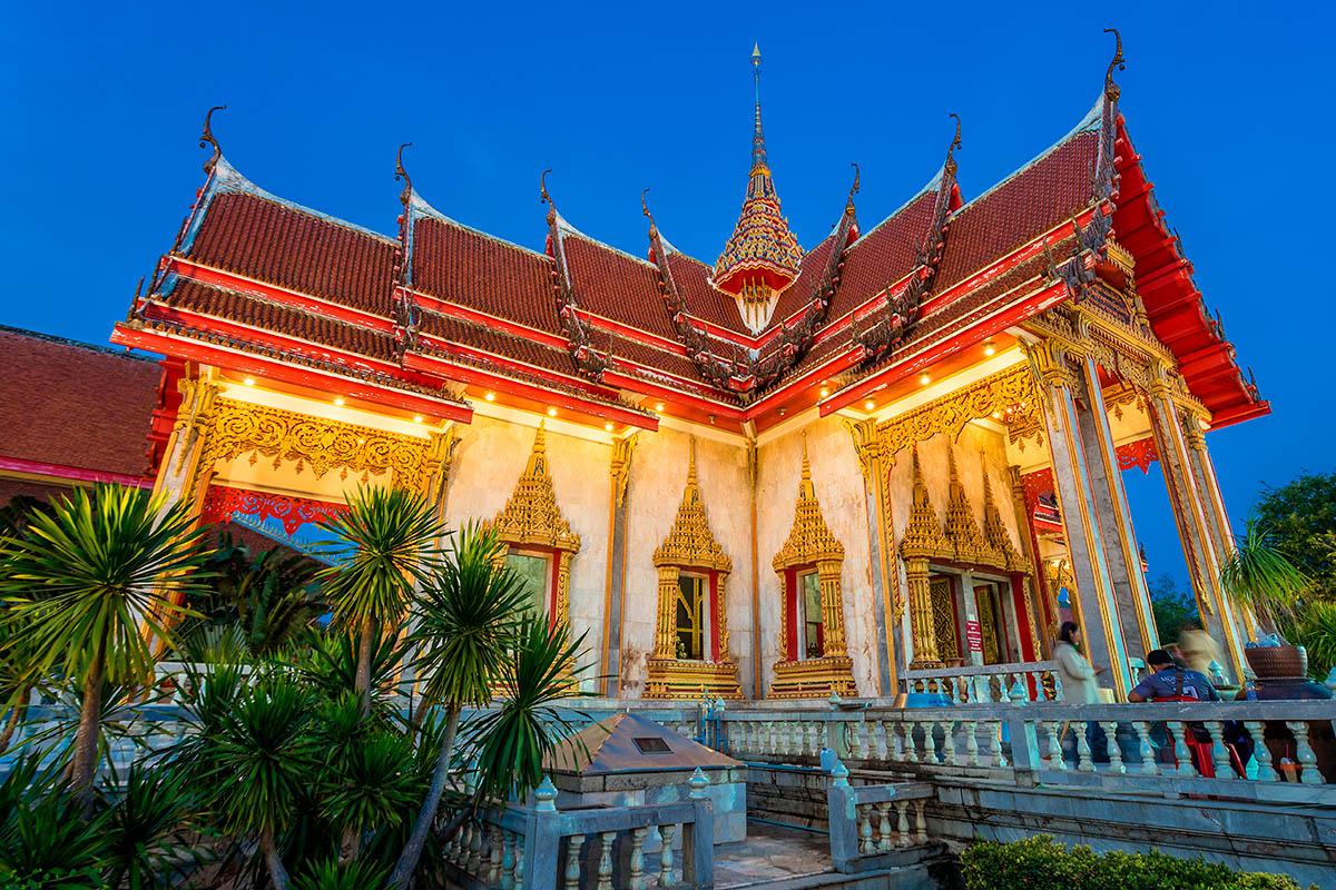 thaimaa phuket chalong temppeli